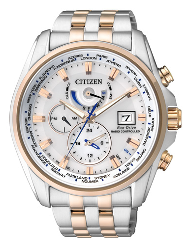 Citizen Eco-Drive Elegant kulta/hopea